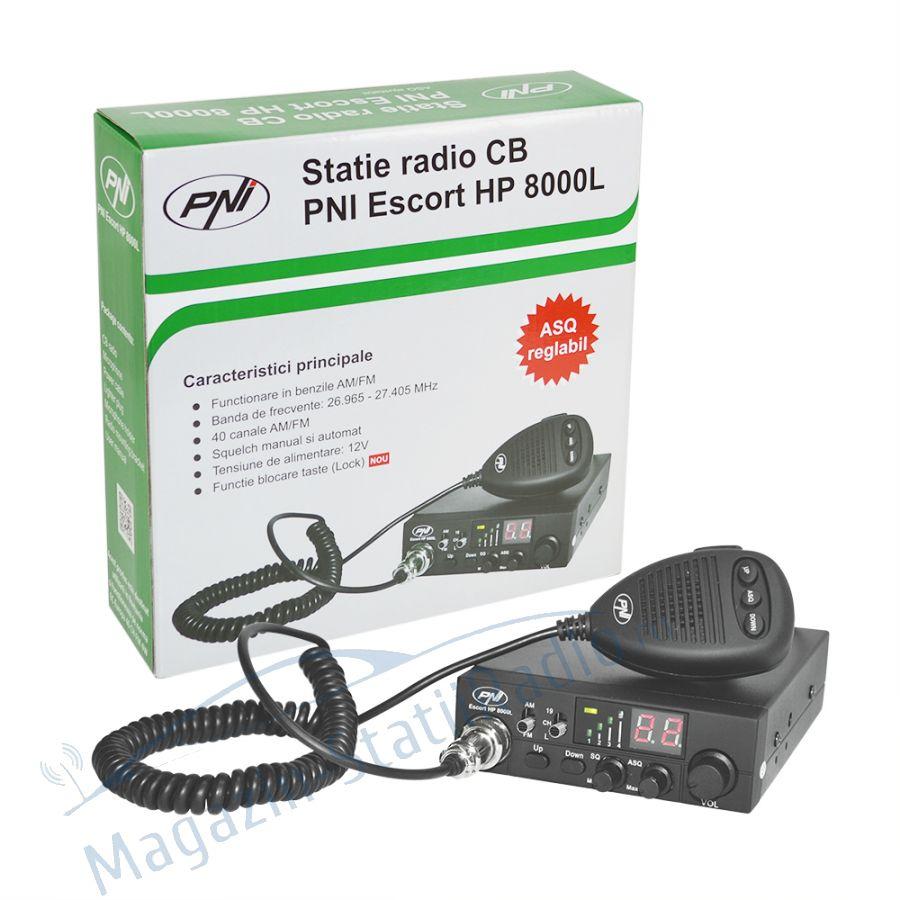 SET: Statie radio CB PNI Escort HP 8000L ASQ + Antena MEGAWAT ML147