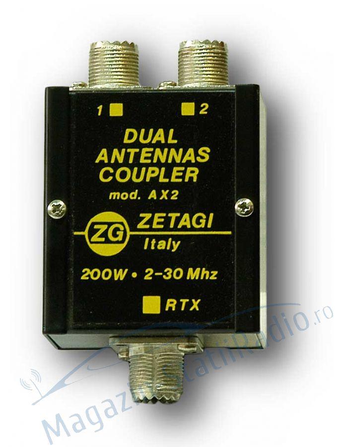 Dispozitiv Cuplare 2 Antene: ZETAGI AX2 DUAL 2-30MHZ, 200W