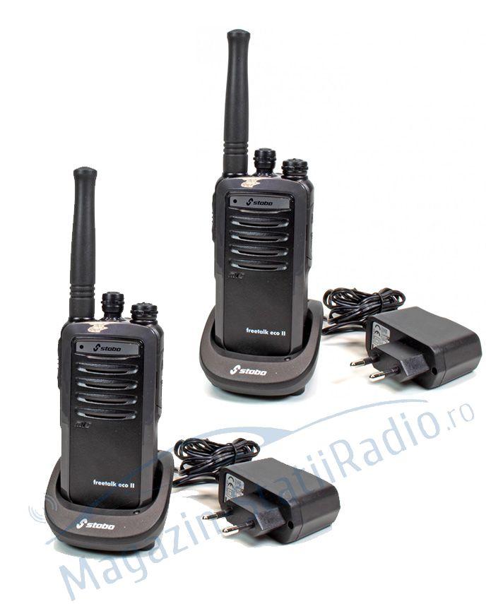 SET 2X Statie radio PMR Profesionala STABO freetalk com II