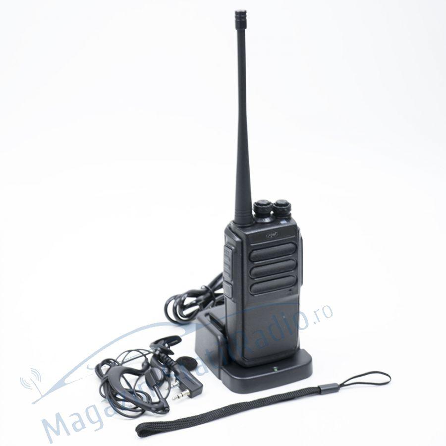 Statie radio UHF portabila PNI PMR R30 1bc acumulator 1200 mAh incarcator si casca incluse