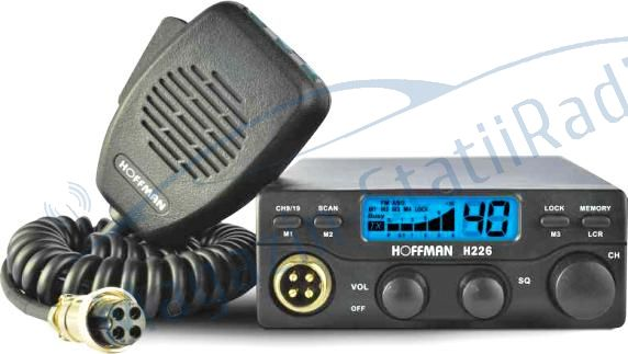 Statie radio CB HOFFMAN H 226,putere 4W, Autosquelch pe microfon