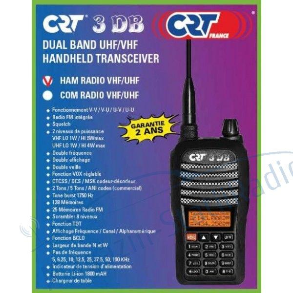 Statie Radio Portabila Dualband VHF/UHF CRT 3 DB
