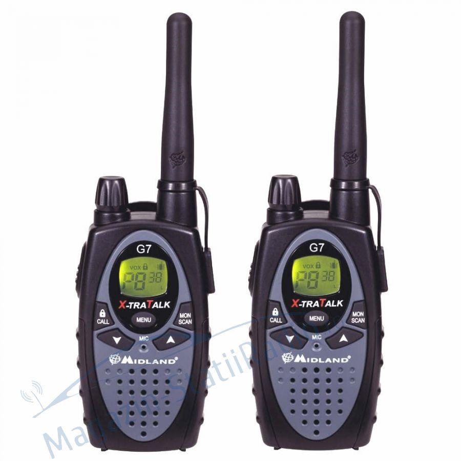 Statie radio PMR portabila Midland G7 XTR set cu 2buc