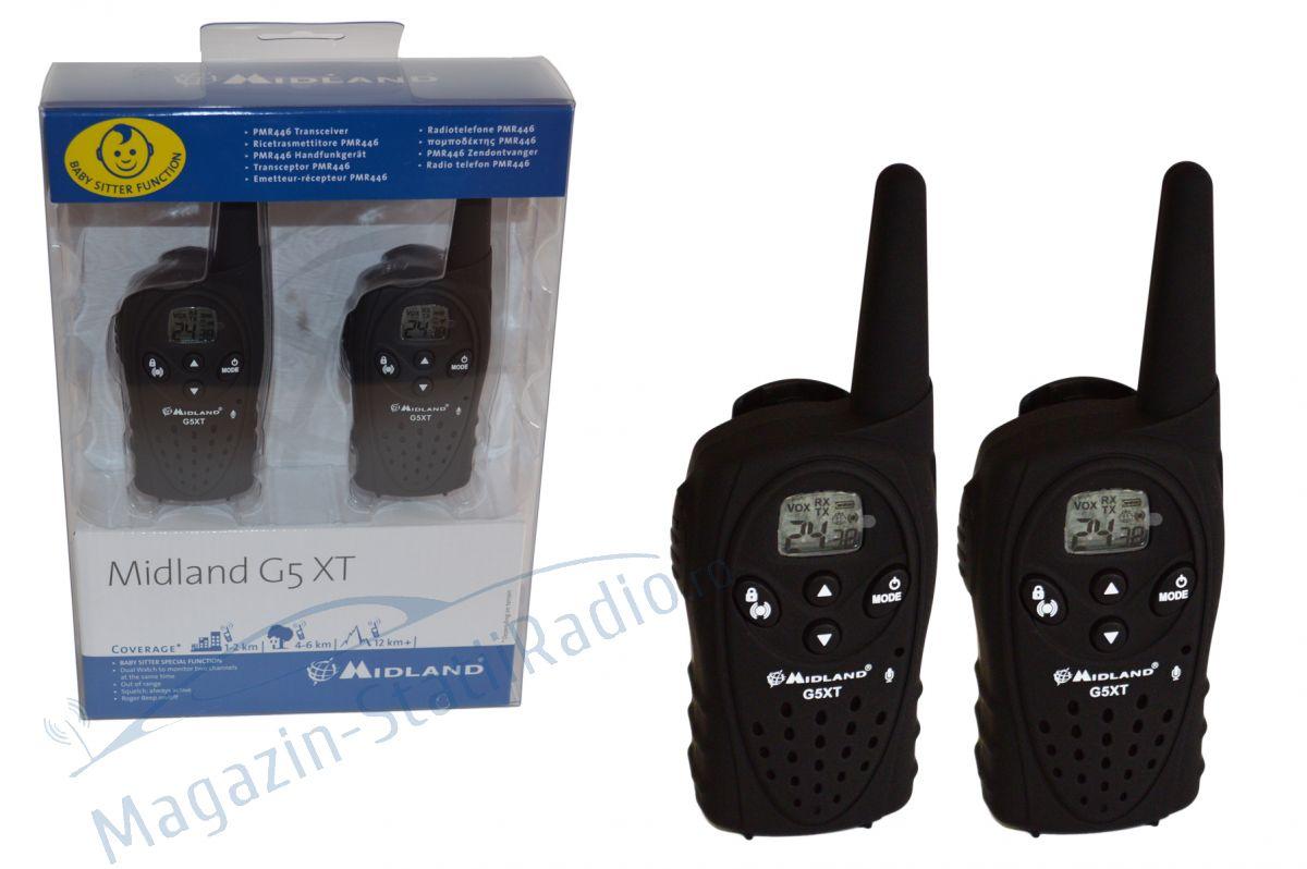 Statie radio PMR portabila Midland G5 XT set