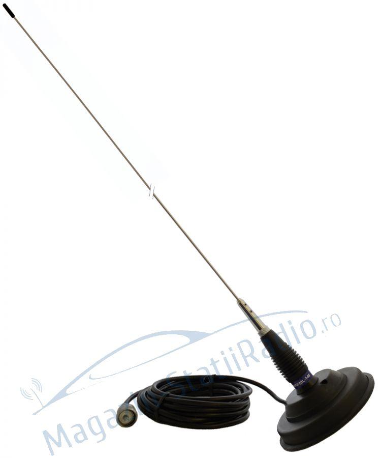 Antena CB PNI ML145 lungime 145 cm si magnet 125 mm inclus