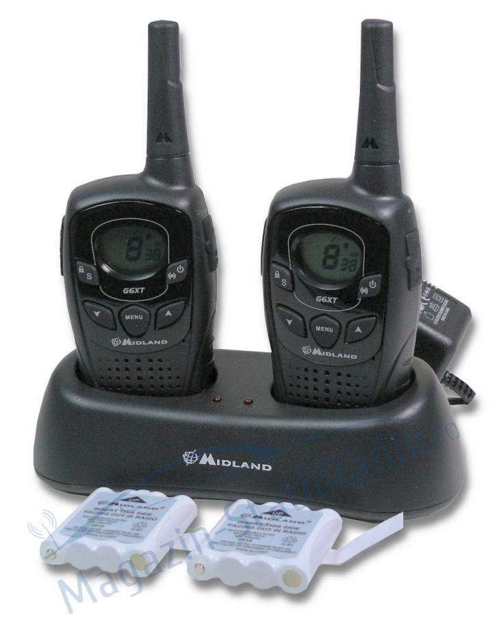 Statie radio PMR portabila Midland G6 XT set