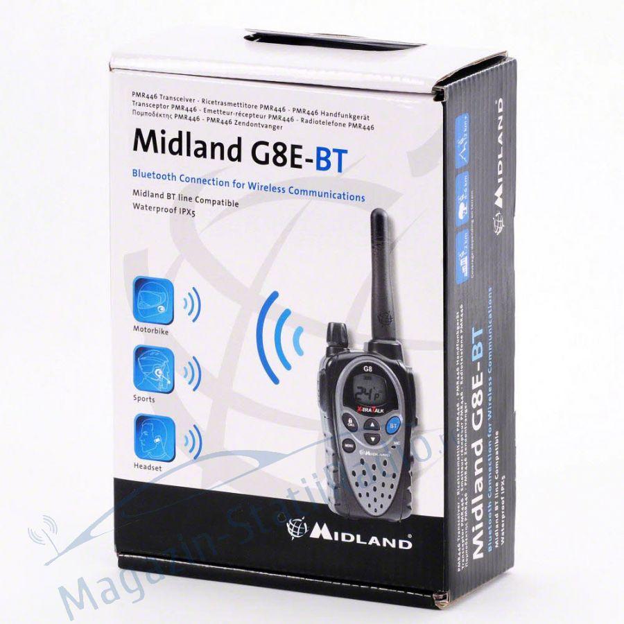 Statie radio PMR portabila Midland G8E BT cu Bluetooth - pentru motociclisti