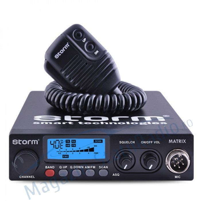Statie Radio CB Storm Matrix, Model nou,  AM/FM, ASQ