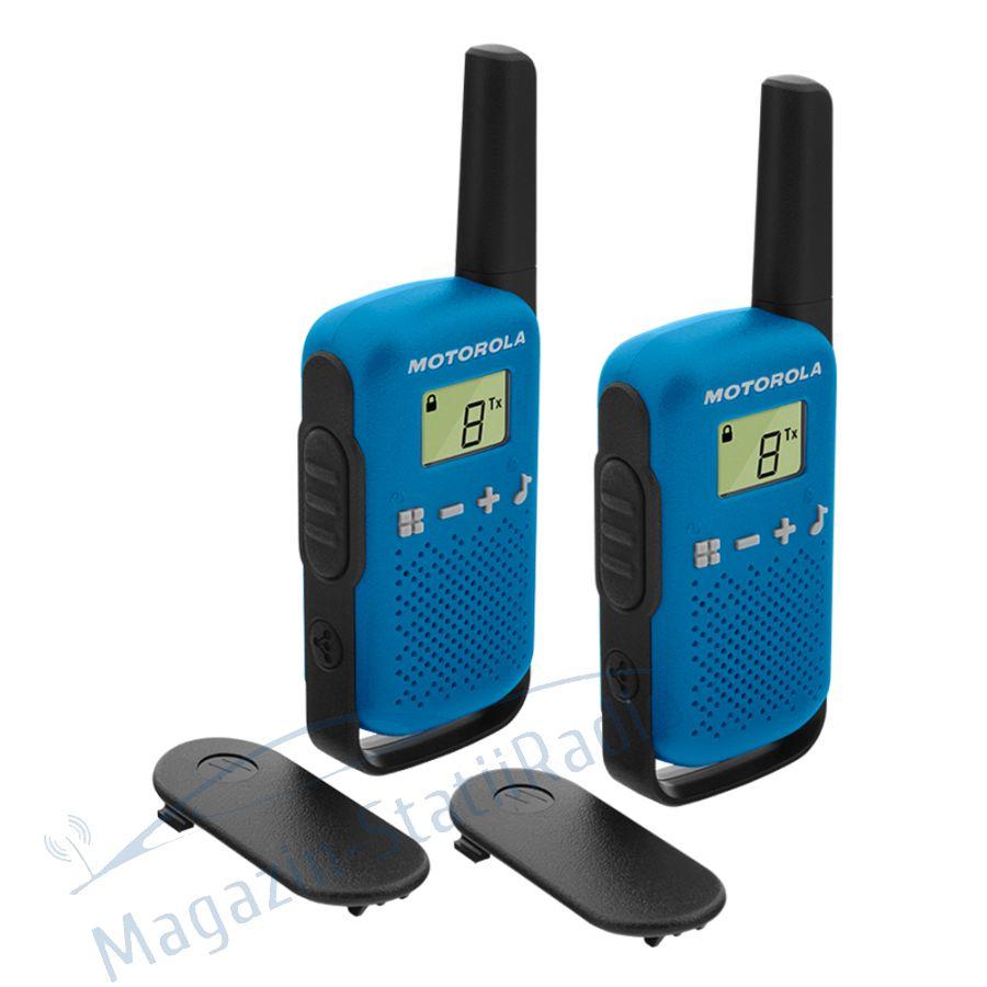 Statie radio PMR portabila Motorola TALKABOUT T42 Blue set 2 buc