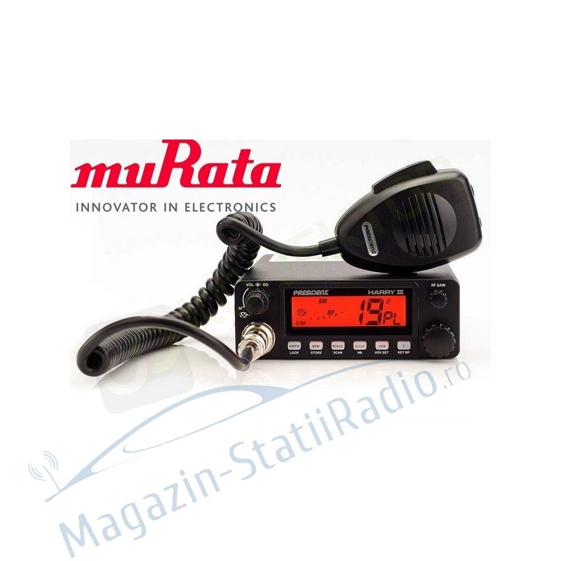 Statie President Harry 3 Asc 12/24v, cu filtre muRata/Japan, 40 de canale AM/FM