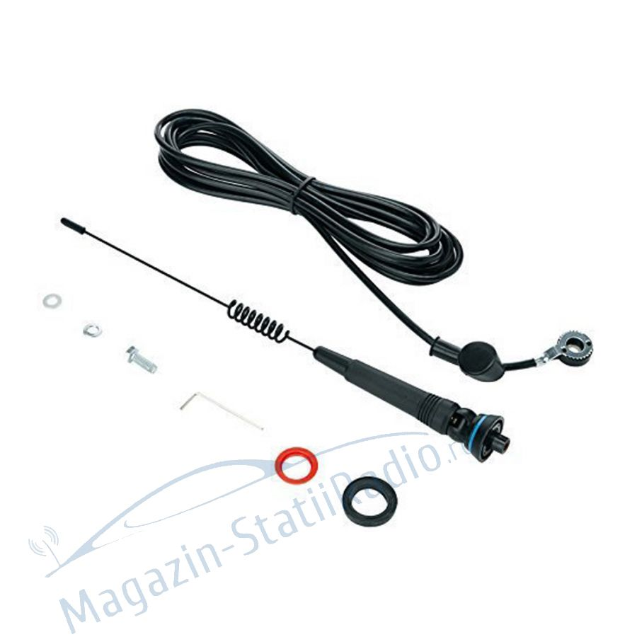 Antena CB Midland X-Turbo Mini, 31cm cu cablu inclus