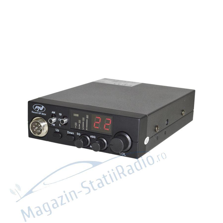 Statie radio CB PNI Escort HP 8024, ASQ reglabil, alimentare 12/24v