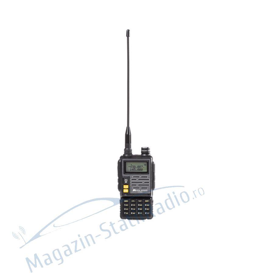 Statie radio VHF/UHF portabila Midland CT690 dual band 136-174 si 400-470 MHz culoare Negru