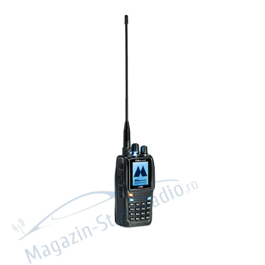 Statie radio VHF/UHF portabila Midland CT890 dual band, 136-174 si 400-470 MHz