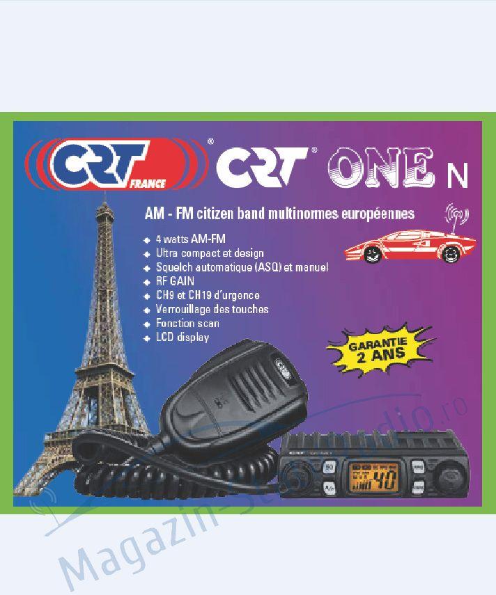 Statie Radio CB CRT ONE N - Cea mai mica statie din lume!!! - Sasiu aluminiu