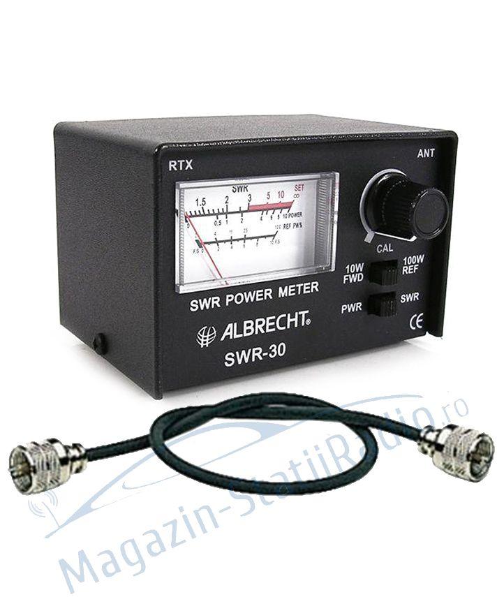 Pachet: Albrecht SWR 30, Aparat pentru calibrare antena + Cablu 0.45M