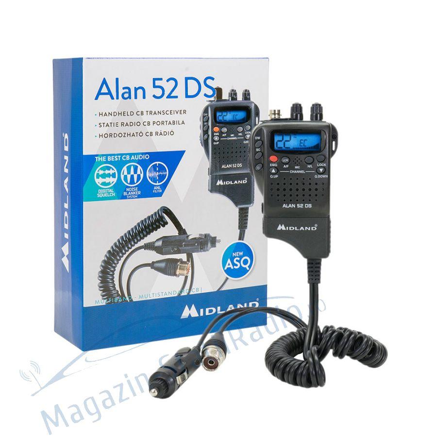 Statie radio CB portabila Midland Alan 52 DS ASQ cu Squelch Automat Digital