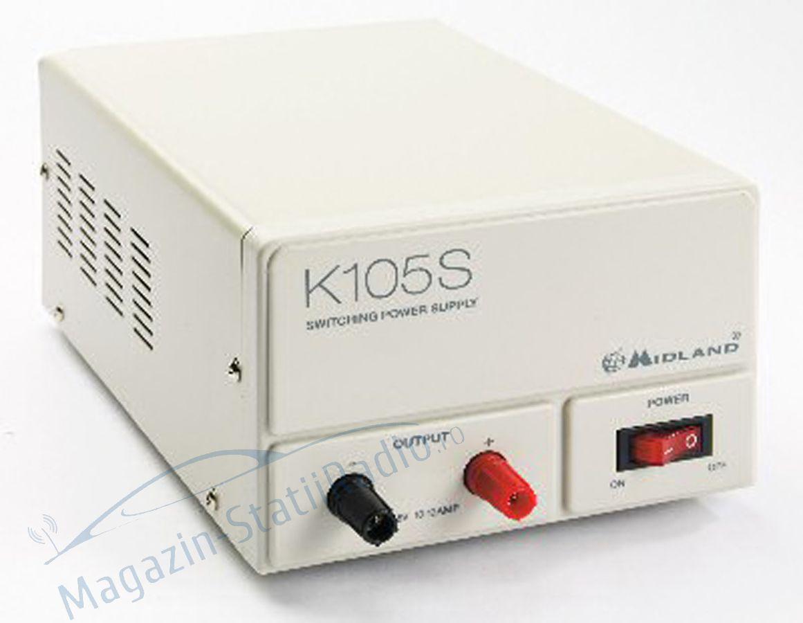 Sursa tensiune Midland K105S 220V-12V curent nominal 10A
