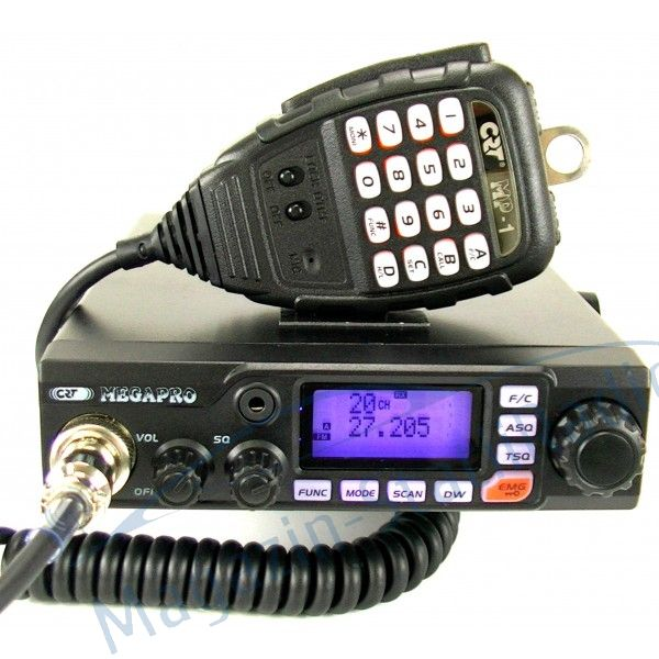 Statie Radio CB CRT MEGAPRO 12/24V, multinorm, 40 canale,S-METER