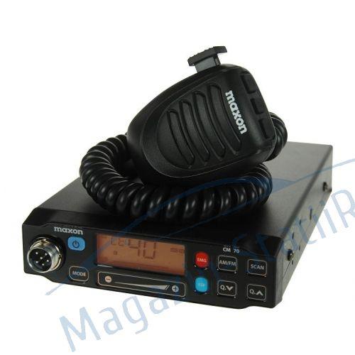 Statie radio CB Maxon CM70, cu panou digital si squelch automat