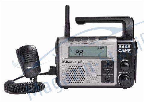 Statie radio PMR Midland Base Camp, PMR + FM + Maritima + lanterna + dinam