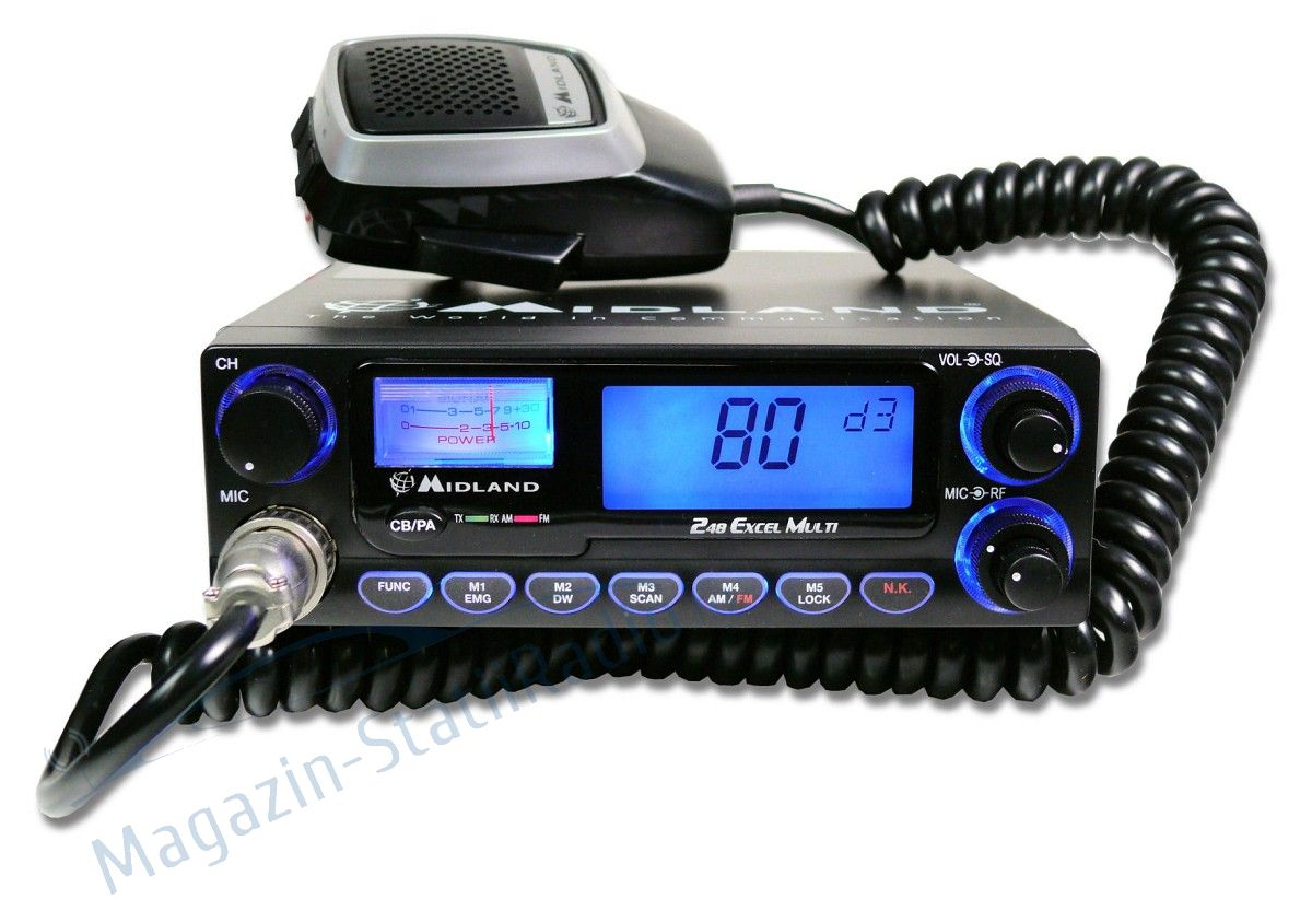 Statie radio CB Midland 248 XL cu 2 filtre de zgomot