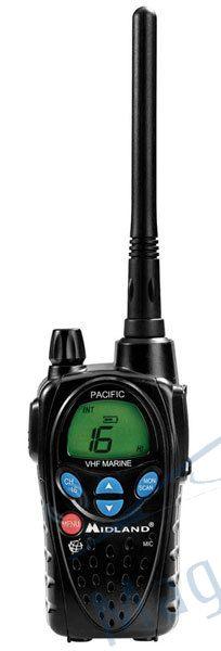 Statie radio maritima portabila Midland PACIFIC culoare Negru accesorii incluse