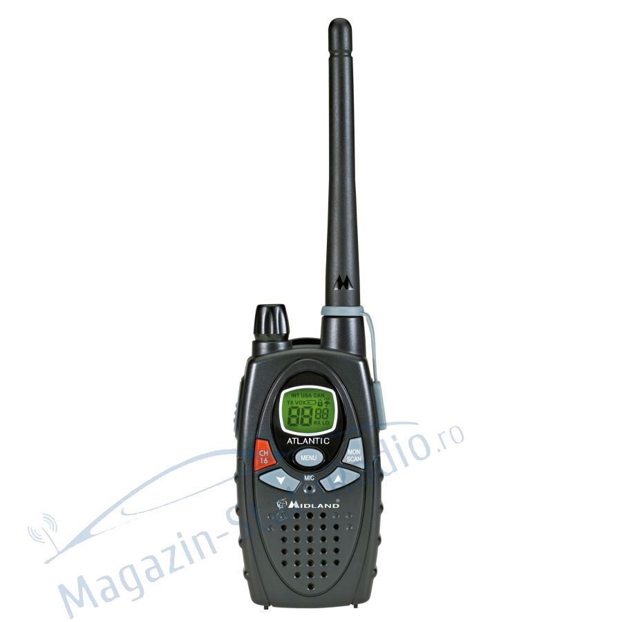 Statie radio maritima portabila Midland ATLANTIC XT culoare Negru  include accesorii