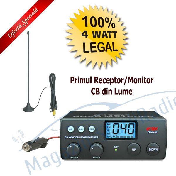 Set: Receptor/Monitor Trafic Intek CBM 450 + Antena 30 Cm