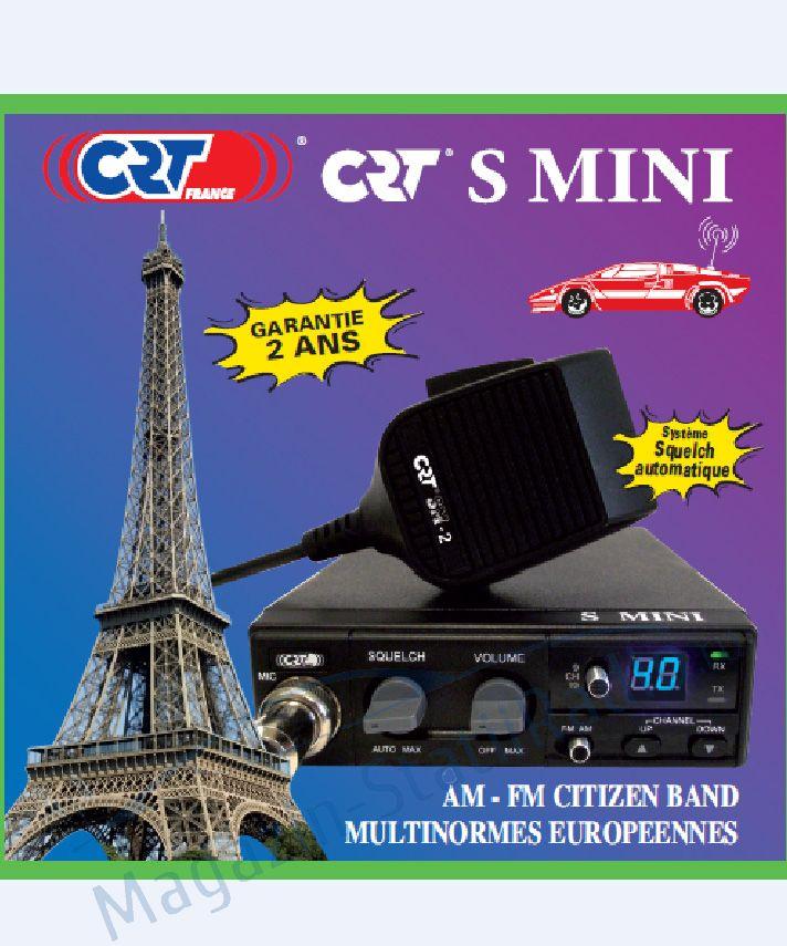 Model 2016: Statie Radio CB CRT S MINI II ASC, 40 de canale AM/FM, toate standardele europene