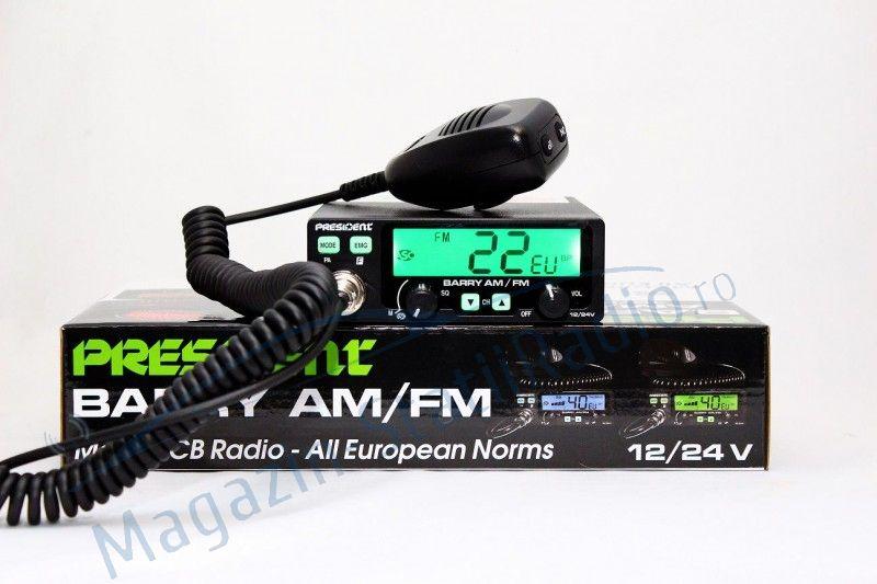 Statie Radio CB President BARRY AM/FM ASC, model 2018, 12/24v, 40 canale, toate standardele europene