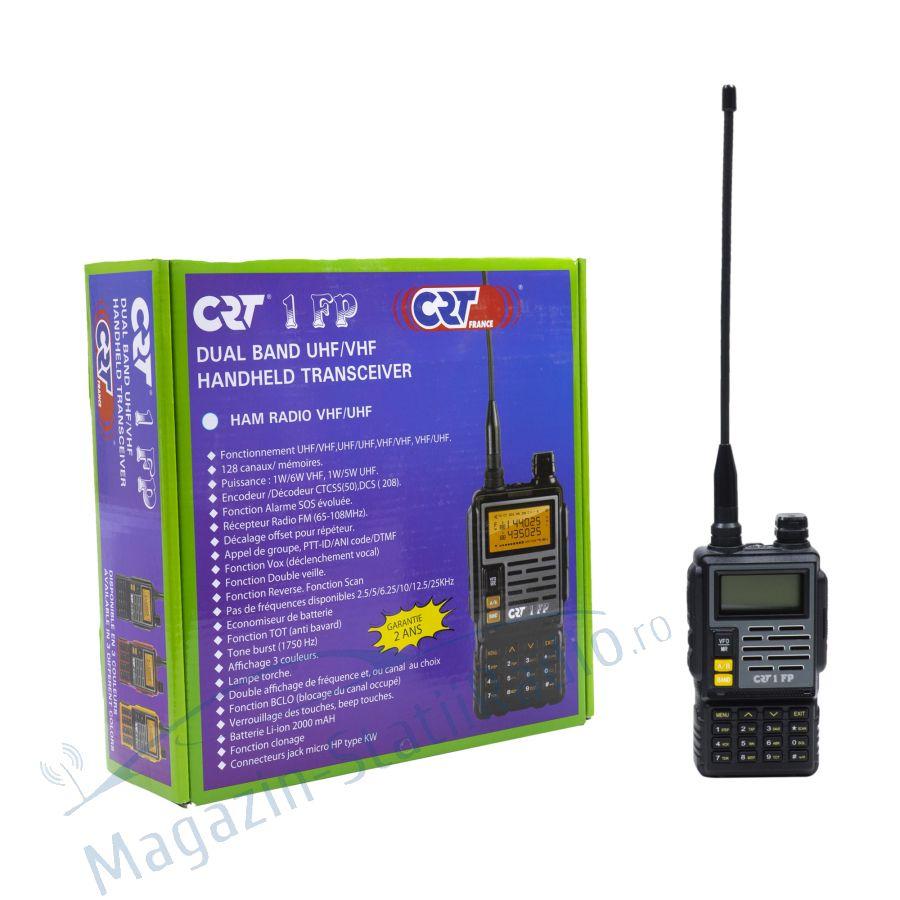 Statie radio VHF/UHF portabila CRT 1 FP HAM dual band 136-174 si 400-470 MHz