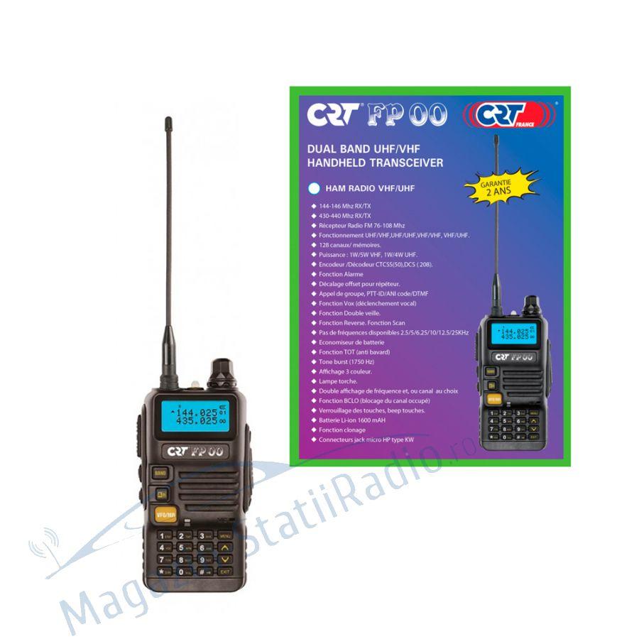 Statie radio VHF/UHF portabila CRT FP00 dual band 136-174 si 400-440 MHz