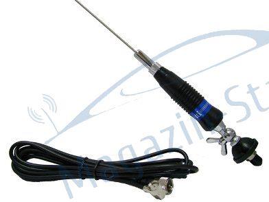 Antenă CB TTi CB-009, cu cablu şi mufă PL259 incluse