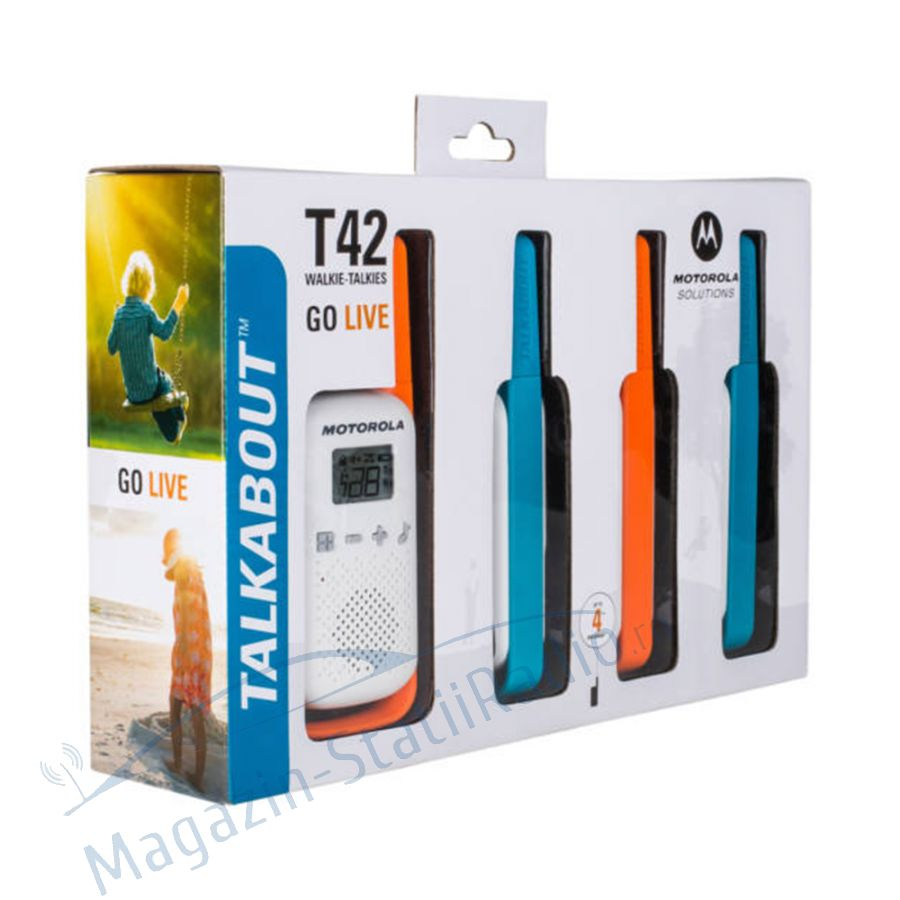 Statie radio PMR portabila Motorola TALKABOUT T42 set 4 buc