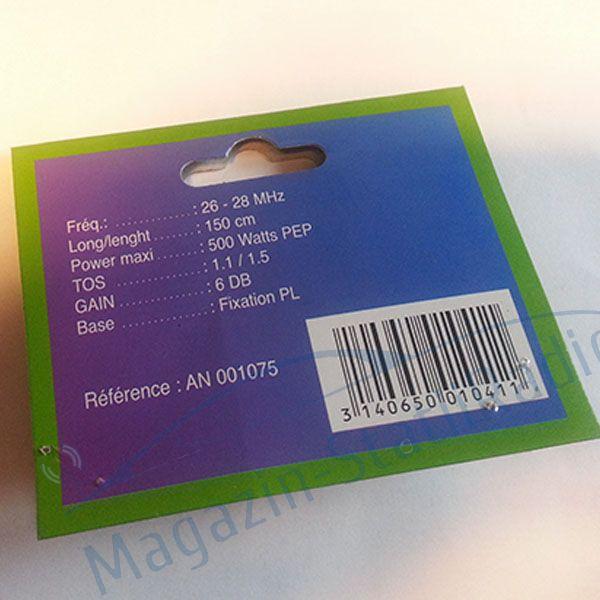 Antena CRT Superstar ML145 + baza magnetica 140mm inclusa