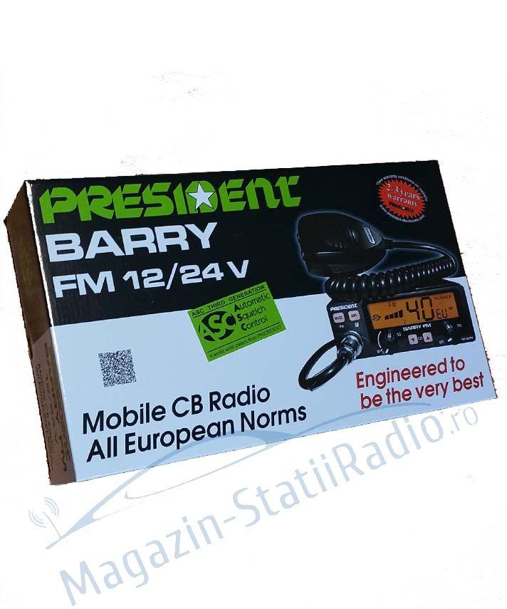 Statie Radio CB President BARRY FM ASC , 12/24v, 40 canale FM, toate standardele europene 2017