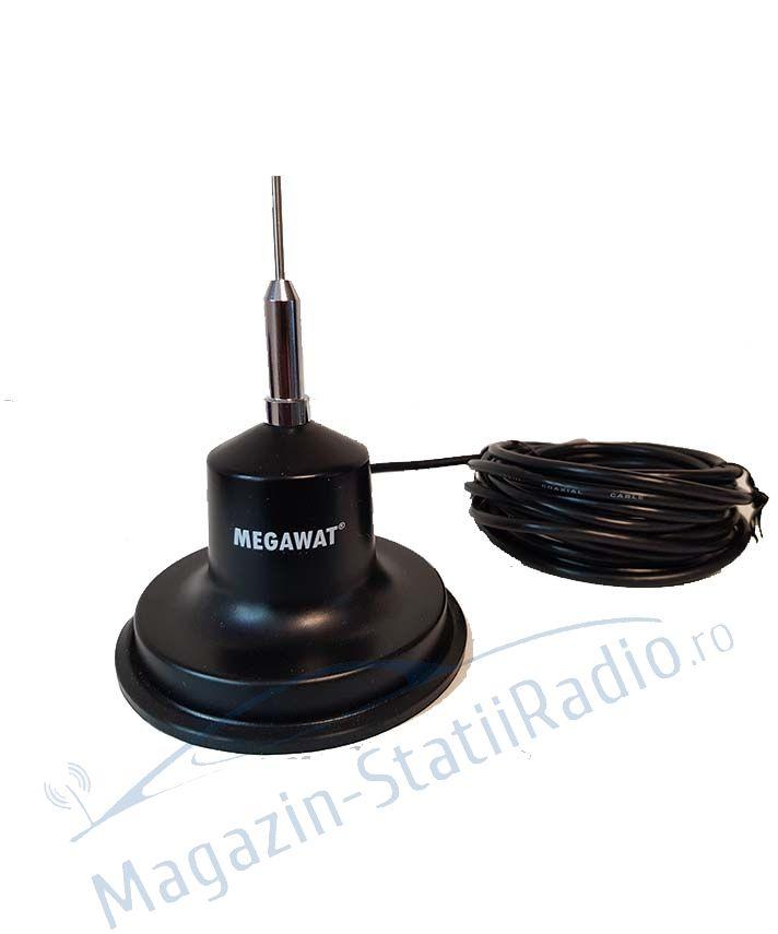 Antena Radio CB MEGAWAT MW CB 13 cu magnet, BONUS: protectie cauciuc