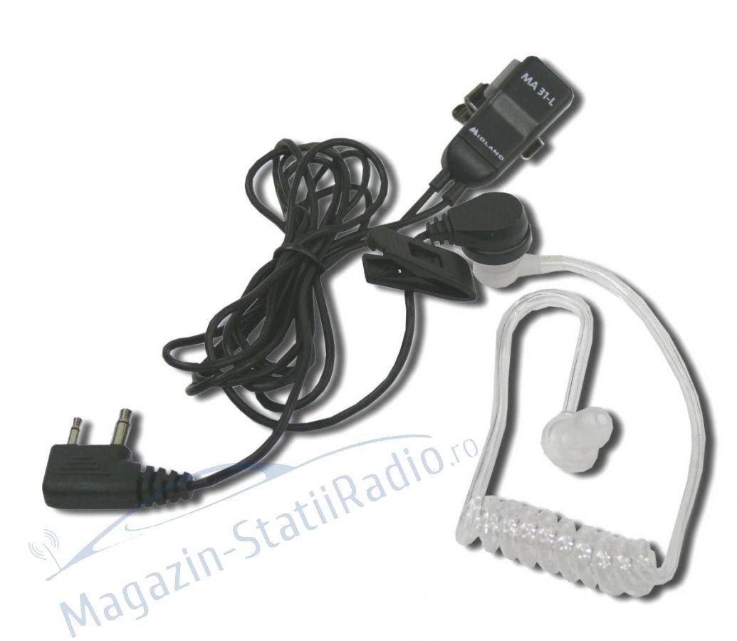Casca cu microfon Midland MA31-L cu 2 pini pt. Alan 52, Alan 42, G7, G9 etc.