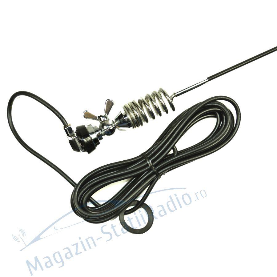 Antena VHF Midland CT-8R pentru Taxi 144-174MHz, 136cm cu cablu inclus MSR100653