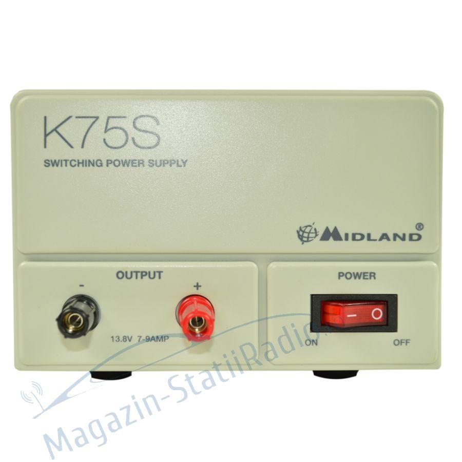 Sursa tensiune Midland K75S 220V-12V curent nominal 7A