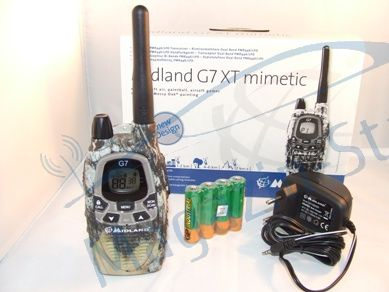 Statie radio PMR portabila Midland G7 XTR Single Mimetic