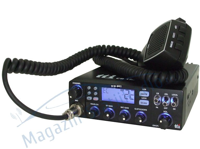 Statie radio CB TTi TCB-881, alimentare 12V-24V si squelch automat