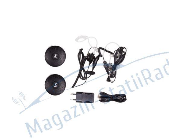 Cobra AU120 Set 2 statii walkie-talkie Raza pana la 3 km 16 canale, Include casti ergonomice