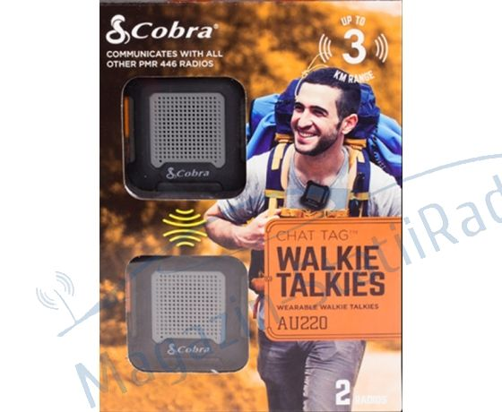 Set Statii walkie talkie PMR, Cobra AU220, 2bucati