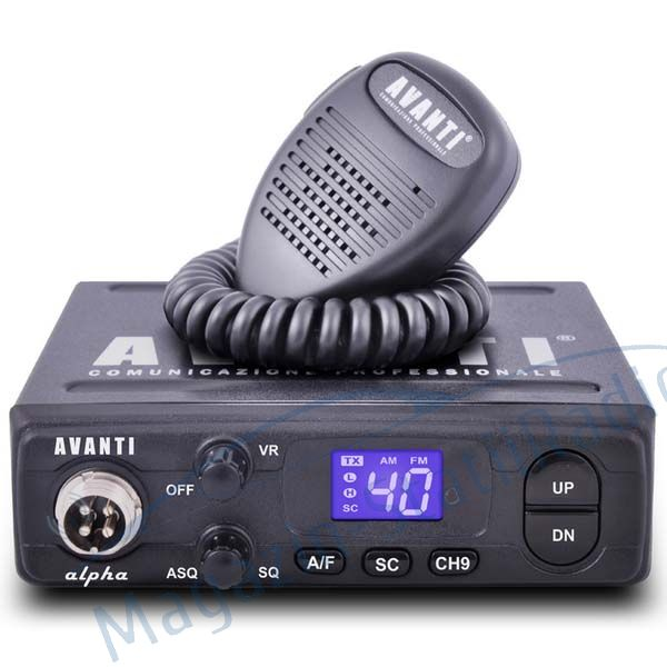 Statie Radio CB Avanti Alpha - Model nou,  AM/FM, ASQ