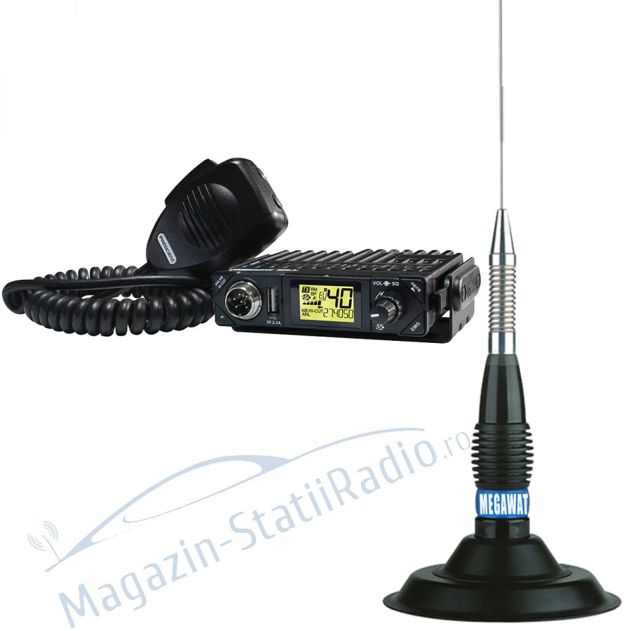 Statie Radio President BILL AM/FM ASC + Antena MEGAWAT ML147