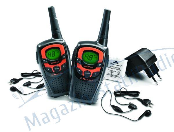 Statie radio PMR portabila Midland M48 Plus set cu 2buc