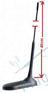 Antena Radio CB President Virginia UP 49 cm,  lungime cablu 4m