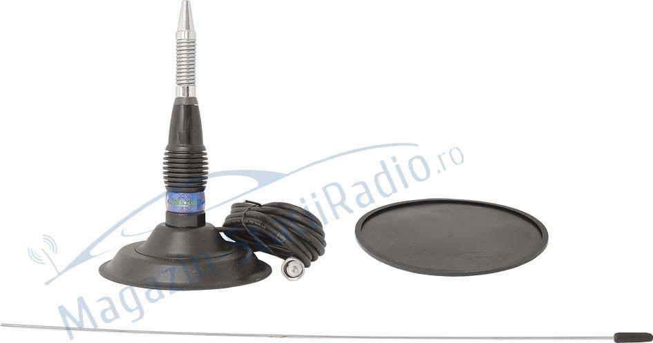 Antena President ML 145 inox + baza magnetica 145mm